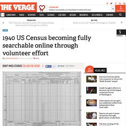 1940 US Census becoming fully searchable online through volunteer effort