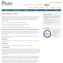 Becoming an e-Tutor Online Tutor