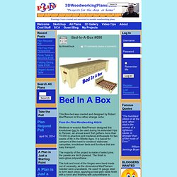Bed-In-A-Box #098 : 3D Woodworking Plans