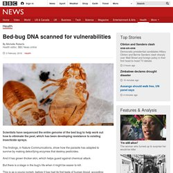 Bed-bug DNA scanned for vulnerabilities