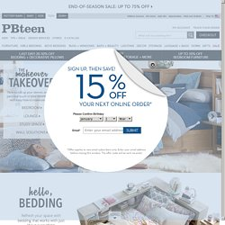 Teen Bedding, Furniture & Decor for Teen Bedrooms & Dorm Rooms