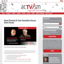 Yanis Varoufakis & Noam Chomsky: bedingungsloses Grundeinkommen