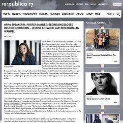 #rp17-Speakerin: Andrea Nahles: Bedingungsloses Grundeinkommen – (K)eine Antwort auf den Digitalen Wandel