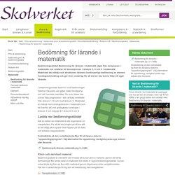 Bedömning för lärande i matematik