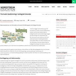 Formativ bedömning+ kollegialt lärande – NORDSTRÖM EDUCATION