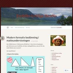 Modern formativ bedömning i matteundervisningen « Erefalks lyckliga lärarliv