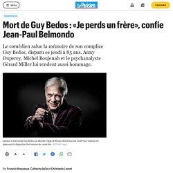 Mort de Guy Bedos : «Je perds un frère», confie Jean-Paul Belmondo...