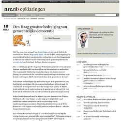 Den Haag grootste bedreiging van gemeentelijke democratie