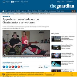 Appeal court rules bedroom tax discriminatory in two cases