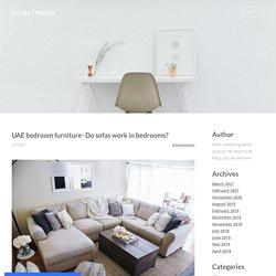 UAE bedroom furniture- Do sofas work in bedrooms?