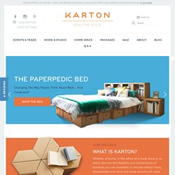 Karton Group | Bedroom | Furniture | Online | Bedside | Tables | Beds · Karton Cardboard Furniture