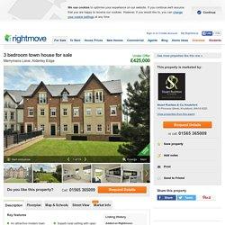 3 bedroom town house for sale in Merrymans Lane, Alderley Edge, SK9