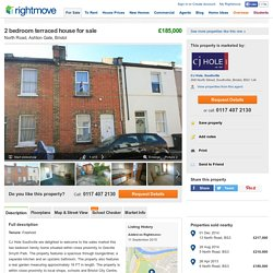 2 bedroom terraced house for sale in North Road, Ashton Gate, Bristol, BS3