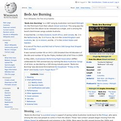 Beds Are Burning - Wikipedia