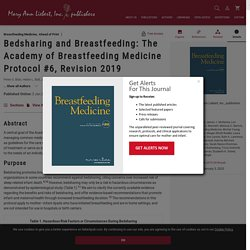 Bedsharing and Breastfeeding: The Academy of Breastfeeding Medicine Protocol #6, Revision 2019