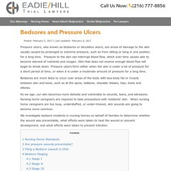 Bedsores and Pressure Ulcers - Ohio Nursing Home Abuse and Neglect Lawyers - Cleveland Nursing Home Abuse and Neglect Lawyers