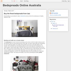 Bedspreads Online Australia: Buy the finest bedspreads from izzz