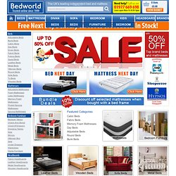 Beds, Mattresses, Bedroom Furniture Sale - Save 80% Bed World Online