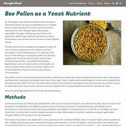 Bee Pollen as a Yeast Nutrient