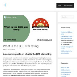 What is the BEE star rating