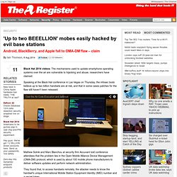 'Up to two BEEELLION' mobes easily hacked by evil base stations