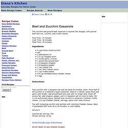Beef and Zucchini Casserole