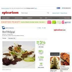 Beef Bulgogi Recipe at Epicurious