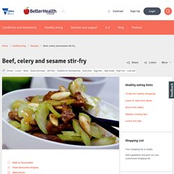 Beef, celery and sesame stir-fry