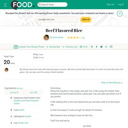 Beef Flavored Rice Recipe - Food.com - 462415