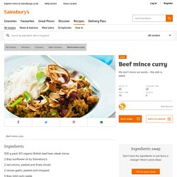 Beef mince curry