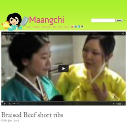 Beef short ribs (Galbijjim) recipe