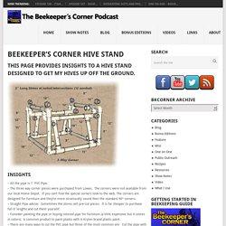 Beekeeper's Corner Hive Stand