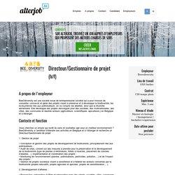Beeodiversity - Directeur/Gestionnaire de projet - Alterjob.be