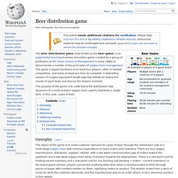 Beer distribution game - Wikipedia
