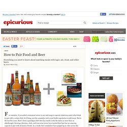 Beer and Food Pairings at Epicurious