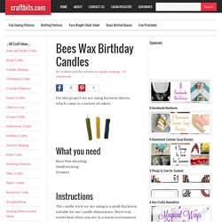 Bees Wax Birthday Candles