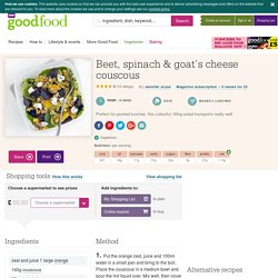 Beet, spinach & goat's cheese couscous recipe
