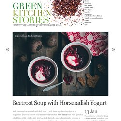 Beetroot Soup with Horseradish Yogurt