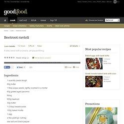 Beetroot ravioli Recipe - Italian