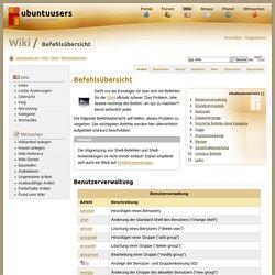 Befehlsübersicht › Shell › Wiki › ubuntuusers.de