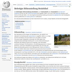 Befestigte Höhensiedlung Steinbühel