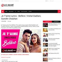 Vishal Dadlani, Sunidhi Chauhan - MUSIC-MASTI.COM