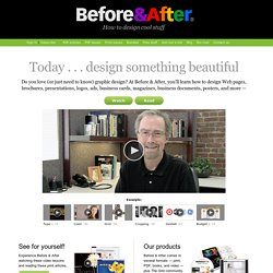 Before & After, How to design cool stuff