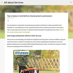 Tips to keep in mind before choosing best Lawnmowers