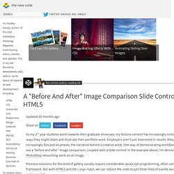 "A ""Before And After"" Image Comparison Slide Control in HTML5"