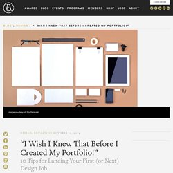 """I Wish I Knew That Before I Created My Portfolio!"""