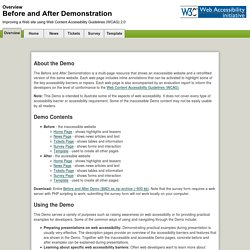 Before and After Demonstration: Overview