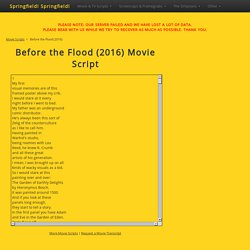 Before the Flood (2016) Movie Script