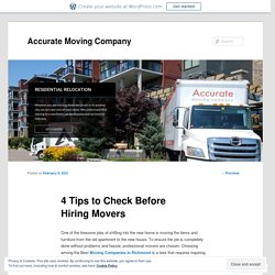 4 Tips to Check Before Hiring Movers