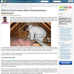 What You Need to Know Before Doing Insulation Replacement